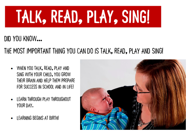 Talk, Read, Play, Sing!